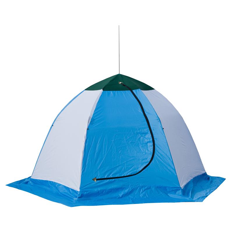 Палатка рыбака ELITE 2-м полуавтомат нетканная (Стэк), цвет: белый, зеленый, голубой