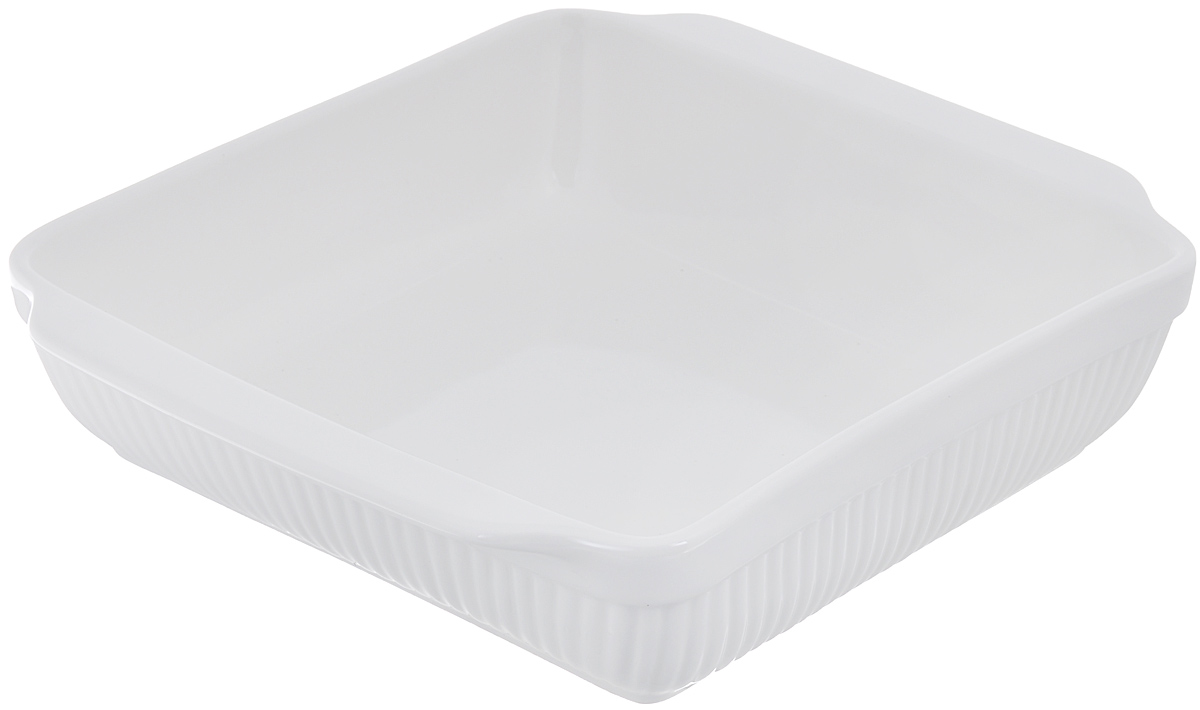 Блюдо для запекания BergHOFF Bianco, прямоугольное, цвет: белый, 30 см х 24 см1691077Блюдо для выпечки BergHOFF Bianco изготовлено из фарфора, что обеспечивает оптимальное распределение тепла. Оно может быть использовано, как для запекания различных блюд, так и для их подачи на стол.Блюдо станет отличным дополнением к вашему кухонному инвентарю, а также украсит сервировку стола и подчеркнет ваш прекрасный вкус.Подходит для использования в СВЧ и духовом шкафу. Можно мыть в посудомоечной машине. Размер по верхнему краю (без учета ручек): 25 см х 24 см. Размер по верхнему краю (с учетом ручек): 30 см х 24 см. Высота стенки: 7 см.