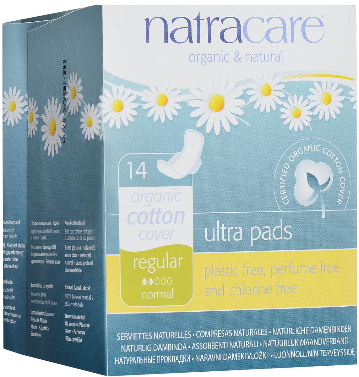 """Гигиенические ультратонкие прокладки с крылышками Natracare """"Regular Normal"""", 14 шт"""