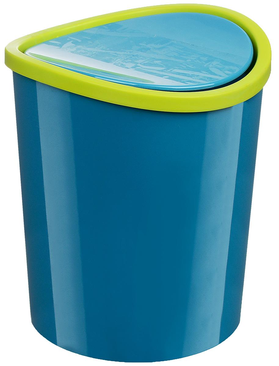 Контейнер для мусора Idea, цвет: бирюзовый, салатовый, 1,6 лМ 2490_бирюзовый, салатовыйКонтейнер для мусора Idea изготовлен из прочного пластика. Такой аксессуар очень удобен в использовании как дома, так и в офисе. Контейнер снабжен удобной поворачивающейся крышкой. Стильный дизайн сделает его прекрасным украшением интерьера.