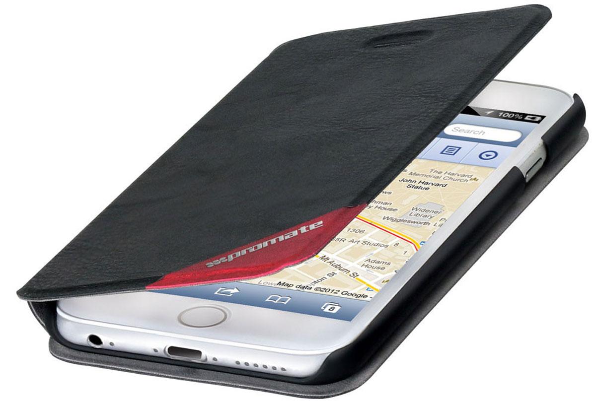 Promate Brace-i6P чехол для Apple iPhone 6, Black6959144012933Оденьте свой новый Apple iPhone 6 в исключительный качеству, сделанный из кожи и термопластичного полиуретана чехол Promate Brace, и вы перестанете волноваться о сохранности ваших инвестиций! Гибкий, более долговечный, чем силикон, с отличной амортизацией и износостойкостью он выгодно отличается еще и тем, что очень тонкий.