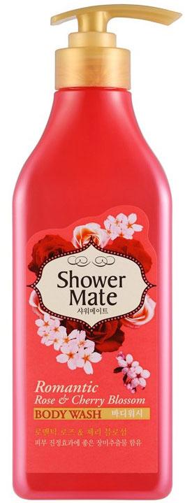 """Shower Mate Гель для душа """"Роза и вишневый цвет"""", 550 г"""