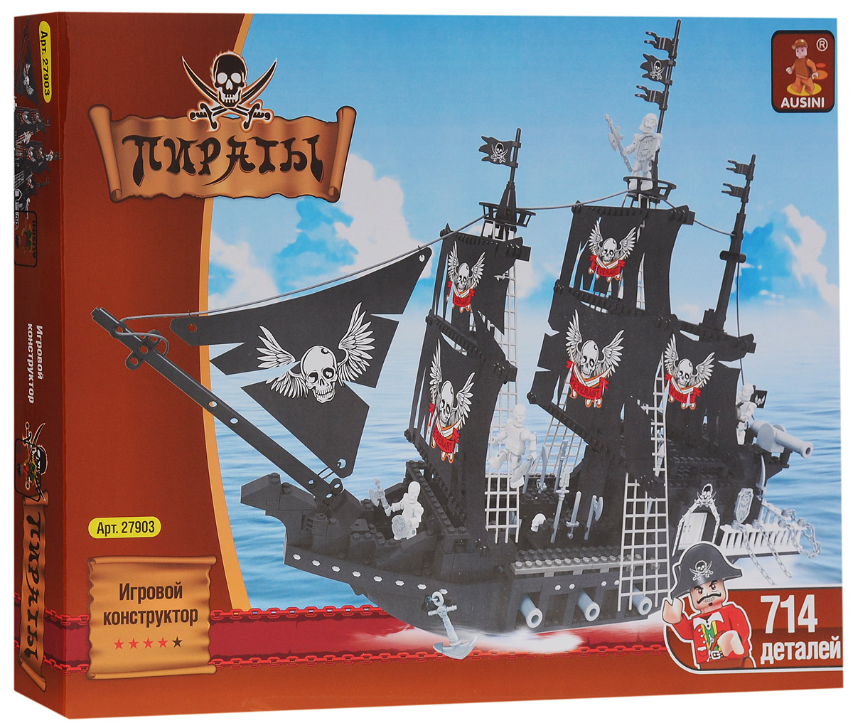 Ausini Конструктор Пиратский корабль elc корабль пластик пиратский