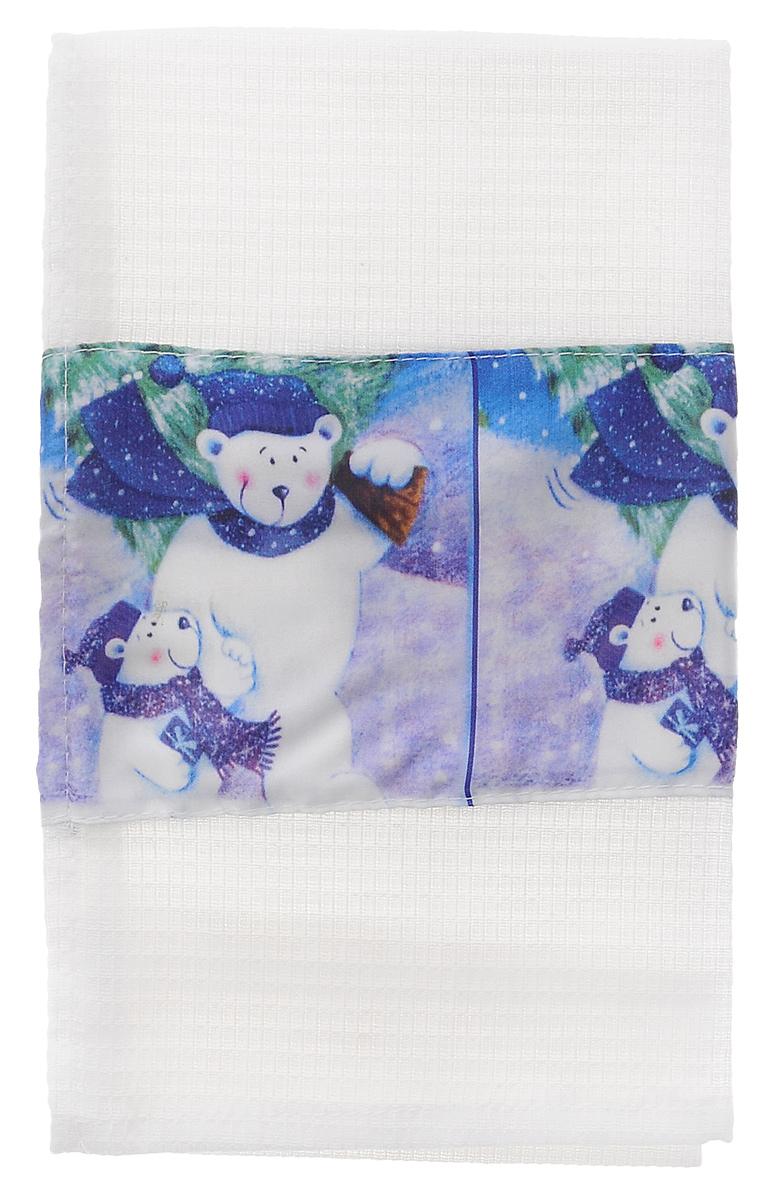 Полотенце кухонное Eva Белые медведи, 60 см х 34 смА061 ОК1_белые медведиПолотенце Eva Белые медведи, выполненное из полиэстера и хлопка, оформлено ярким рисунком. Изделие предназначено для использования на кухне и в столовой.Полотенце Eva Белые медведи - отличный вариант для практичной и современной хозяйки.