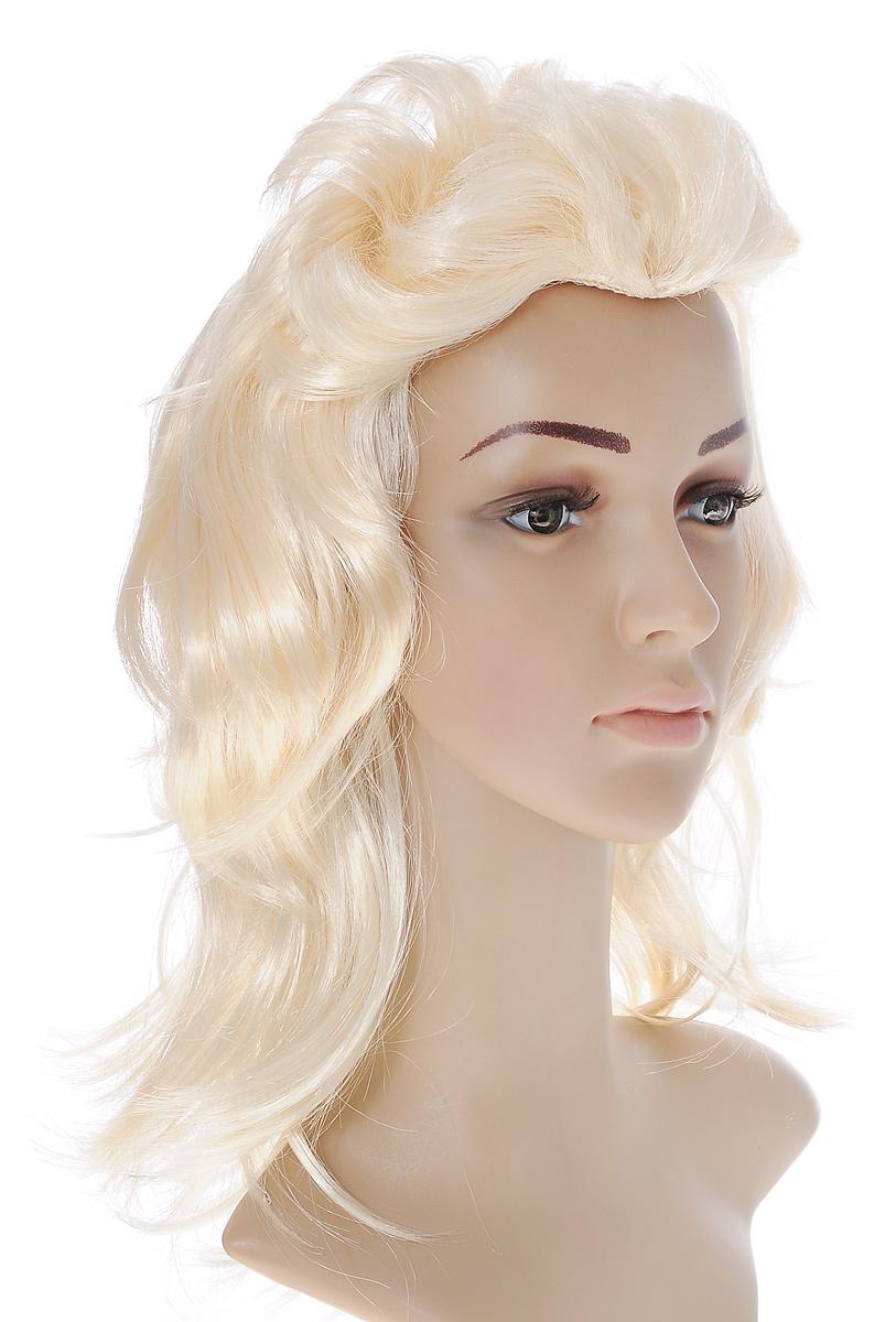 Парик маскарадный Феникс-Презент, цвет: кремовый. 34626 маскарадный парик бунтарка