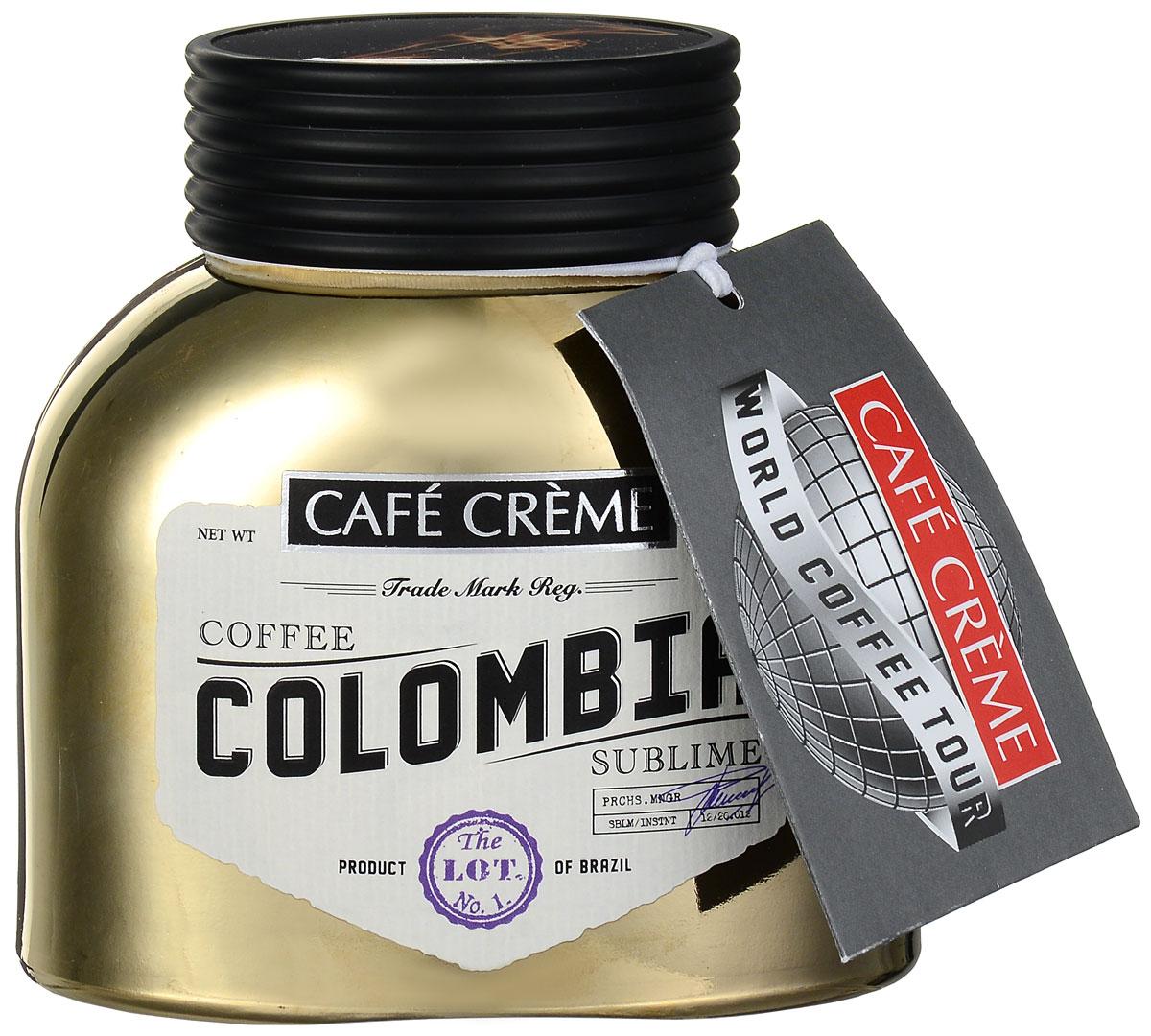 Cafe Creme Colombia кофе растворимый, 100 г4607141337031Cafe Creme Colombia - отменный продукт для истинных кофеманов, ценящих удобство и качество. Бленд представляет собой натуральный растворимый сублимированный кофе, выполненный из 100 % колумбийской арабики, скрещенной с эксцельсо. Чтобы достичь безупречно мягкого вкуса, в смеси были использованы кофейные зерна, выросшие в тени высоких деревьев. Готовый напиток обладает нежным, но в тоже время округлым полнотелым вкусом и многогранным ароматом. Продолжительное обволакивающее послевкусие оставит приятное впечатление.