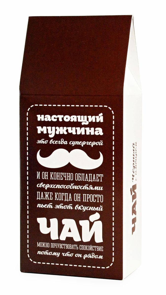 Черный листовой чай Вкусная помощь Для настоящих мужчин, 100 г greenfield чай greenfield классик брекфаст листовой черный 100г