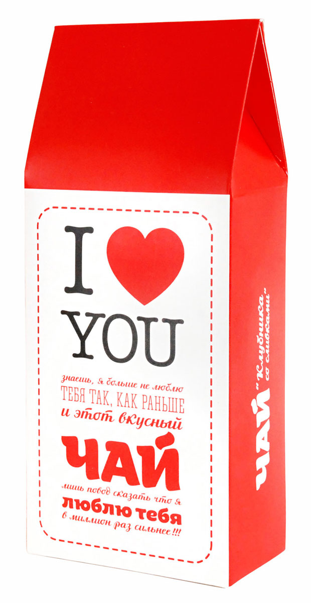 Фруктовый листовой чай Вкусная помощь Я люблю тебя, 100 г чай люблю тебя