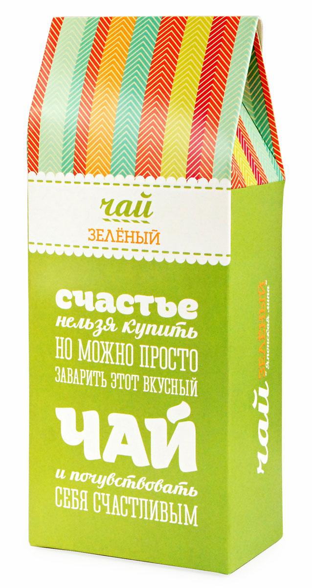 Зеленый листовой чай Вкусная помощь Для счастья, 100 г вкусная помощь тому кто плохо себя вел карамель леденцовая 55 г