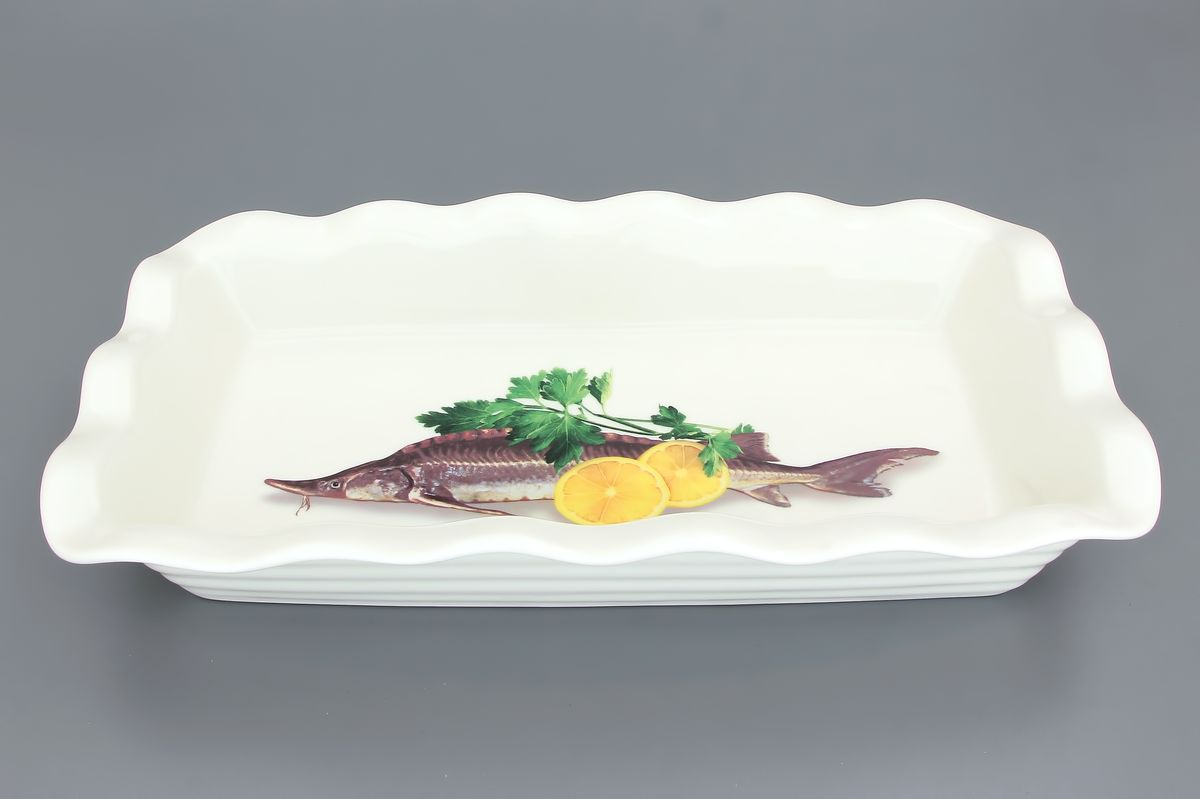 Блюдо для заливного Elan Gallery Осетр, 650 мл блюда elan gallery блюдо для холодца помидоры 700 мл