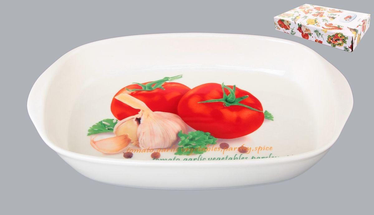 Шубница Elan Gallery Помидоры, 900 мл101213Сервировочное блюдо-шубница Elan Gallery Помидоры прекрасно подойдет для приготовления заливного или холодца. Украсит любой стол и любую кухню. Можно использовать для приготовления и хранения слоеных салатов. Объем: 900 мл.