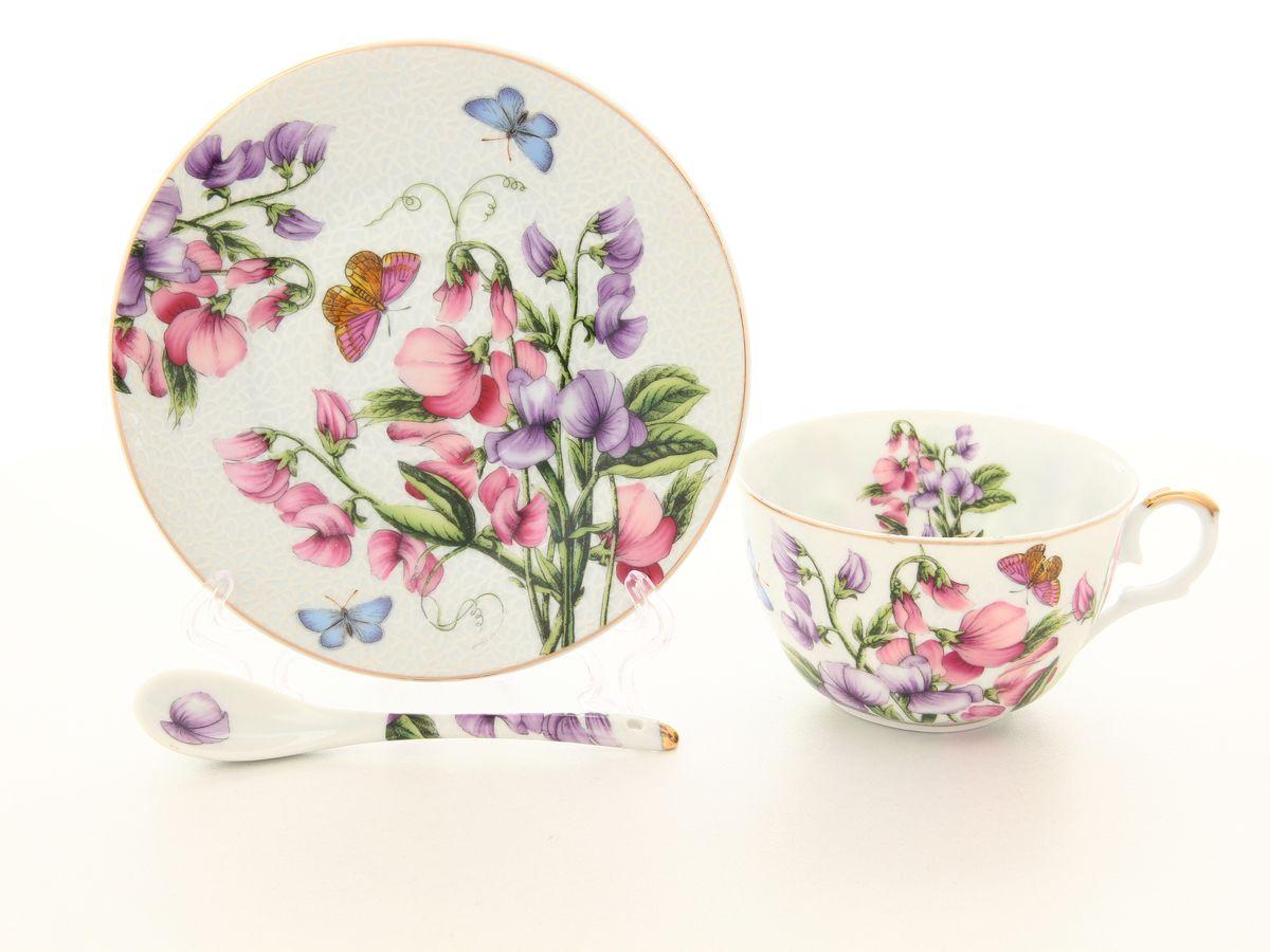 """Чайный набор Elan Gallery """"Душистый цветок"""", 250 мл, 3 предмета. 180800"""