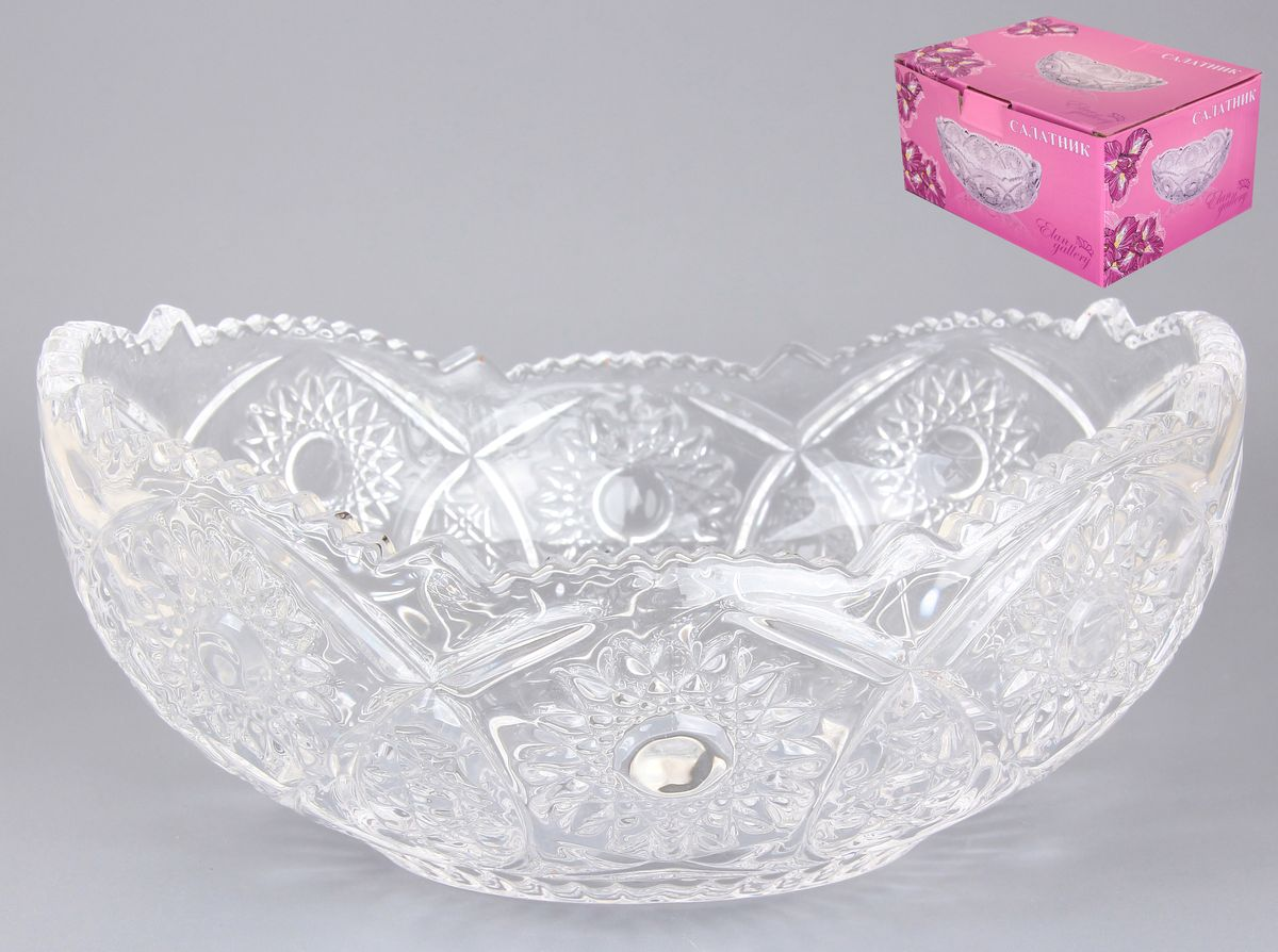 Салатник Elan Gallery Классика, 700 мл890057Не важно, какая у вас посуда, в цветочек, белая, цветная, в горошек или полоску, посуда из стекла подойдет к любому столу. Придаст легкость, воздушность сервировке стола и создаст особую атмосферу праздника. Компактный салатник Elan Gallery Классика станет украшением ваших блюд. Диаметр салатника (по верхнему краю): 20 см.Высота салатника: 10,5 см.Объем салатника: 700 мл.