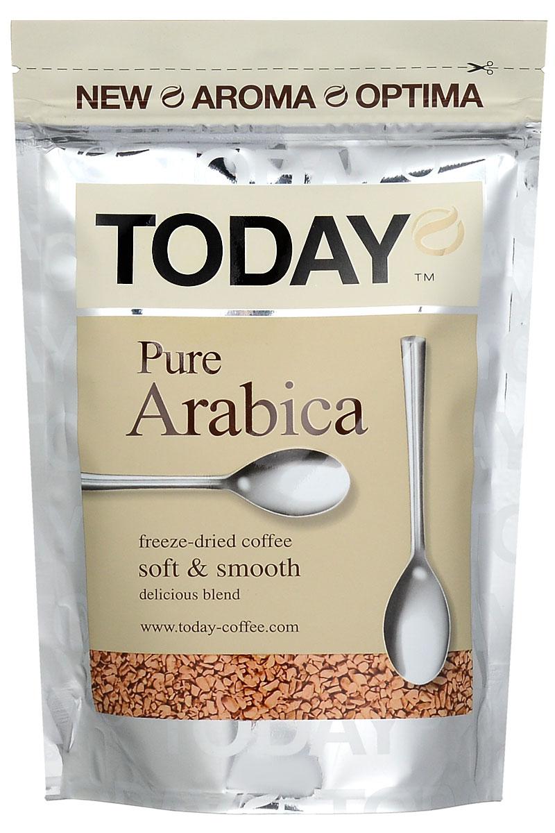 Today Pure Arabica кофе растворимый, 75 г5060300570059Отборные зерна Колумбийской Арабики подарили кофе Today Pure Arabica мягкий вкус, легкую смородиновую кислинку и тонкую нотку фруктового оттенка. Технология Aroma Optima придает напитку мягкий вкус и богатый аромат.Кофе: мифы и факты. Статья OZON Гид