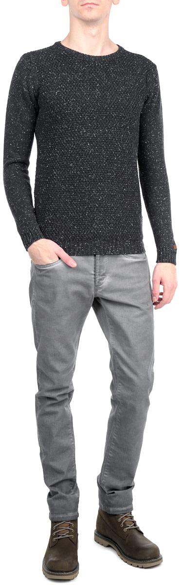 Джемпер мужской Shine, цвет: темно-серый. 2-83050. Размер M (48)2-83050_DK GREY MELСтильный мужской джемпер Shine, изготовленный из 100% хлопка, мягкий и приятный на ощупь, не сковывает движений и обеспечивает наибольший комфорт.Модель с отложным воротником и длинными рукавами великолепно подойдет для создания современного образа в стиле Casual. Изделие оформлено объемным вязаным узором, манжеты и низ джемпера связаны резинками.Этот джемпер послужит отличным дополнением к вашему гардеробу. В нем вы всегда будете чувствовать себя уютно и комфортно в прохладную погоду.