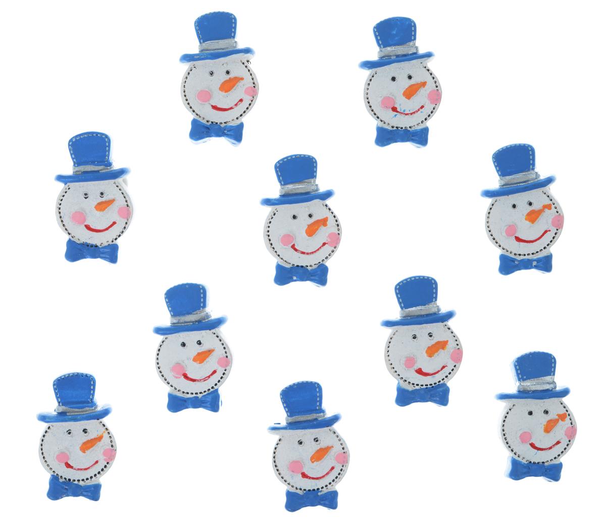 Набор декоративных украшений Lunten Ranta Снеговик в шляпе, на стикере, цвет: белый, синий, 10 шт63577_1Декоративные украшения Lunten Ranta Снеговик в шляпе изготовлены из полирезина и прекрасно подойдут для декора любой поверхности. Их можно использовать для украшения фотоальбомов, подарков, конвертов и многого другого. В наборе - 10 украшений, которые крепятся к поверхности благодаря бумаге на клейкой основе с обратной стороны изделия.Творчество, рукоделие способно приносить массу приятных эмоций не только человеку, который этим занимается, но и его близким, друзьям, родным.Размер украшения: 3 см х 1.7 см х 0,8 см.
