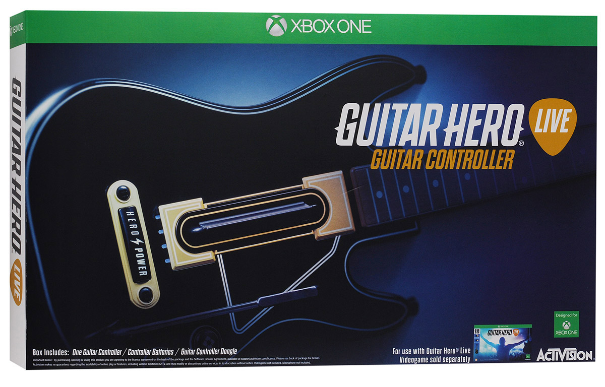 все цены на  Guitar Hero Live Controller Xbox One. Гитара  онлайн