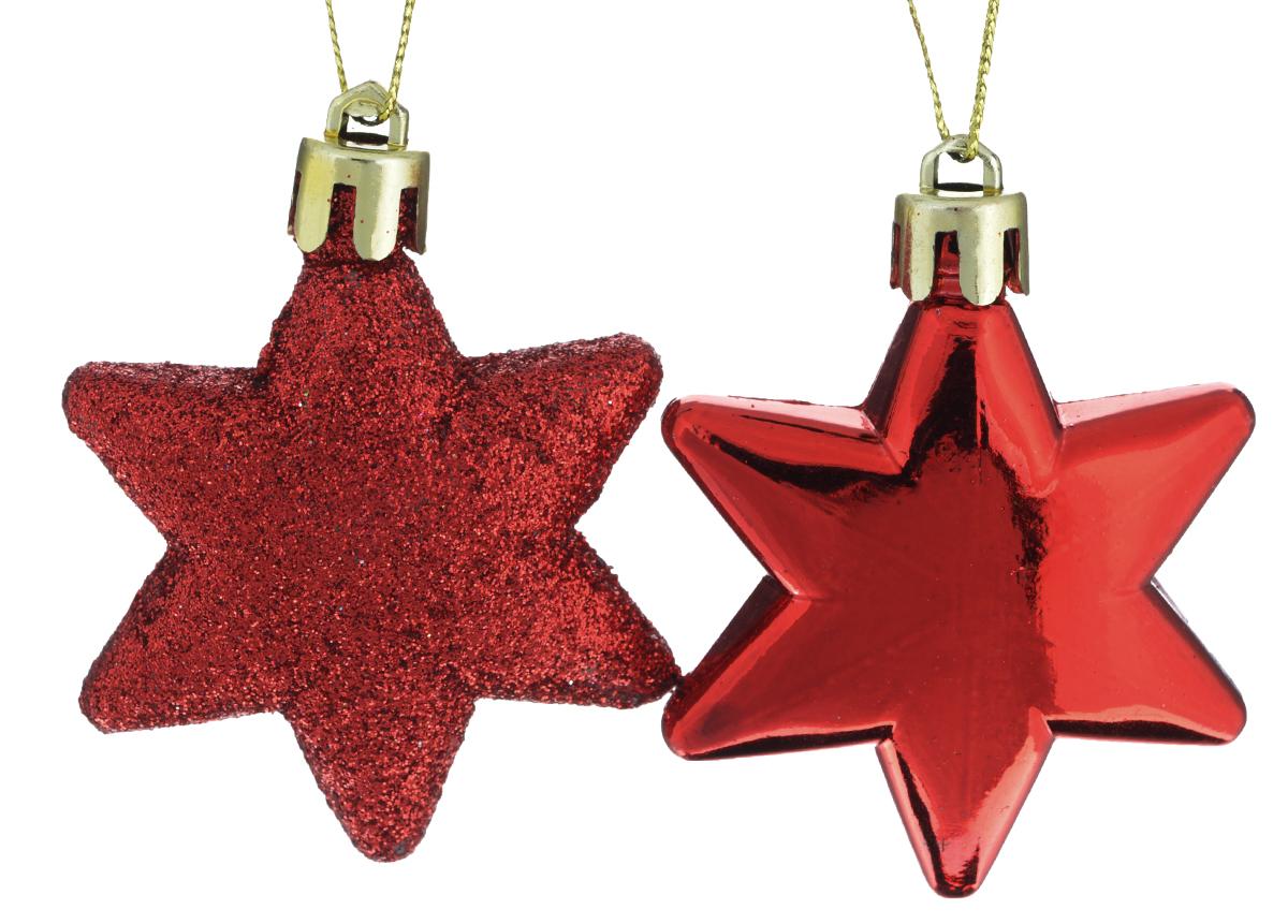Новогоднее подвесное украшение Феникс-презент Звезда, цвет: красный, 5,5 см х 7 см, 2 шт39013Новогоднее украшение Феникс-презент Звезда отлично подойдет для декорациивашего дома и новогодней ели. Изделие выполнено из пластика в форме многогранной звезды. Спомощью специальной петельки украшение можно повеситьв любом понравившемся вам месте.Новогодние украшения несут в себе волшебство и красоту праздника. Онипомогут вам украсить дом к предстоящим праздникам и оживить интерьер повашему вкусу. Создайте в доме атмосферу тепла, веселья и радости, украшая еговсей семьей. Коллекция декоративных украшений из серии Magic Time принесет в ваш дом нис чем не сравнимое ощущение волшебства! Размер украшения: 5,5 см х 7 см х 2 см.