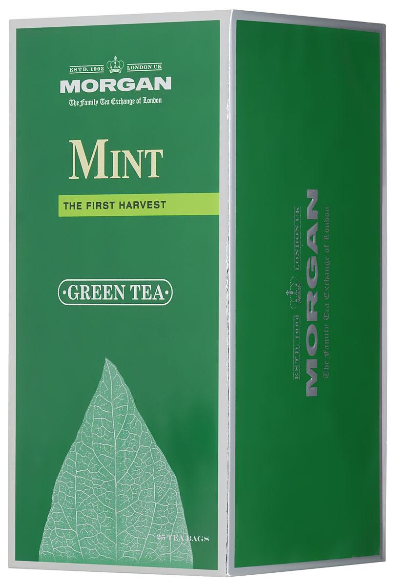 Morgan Mint чай зеленый в пакетиках, 25 шт фруктовая линия ассорти зеленый чай в пакетиках 25 шт
