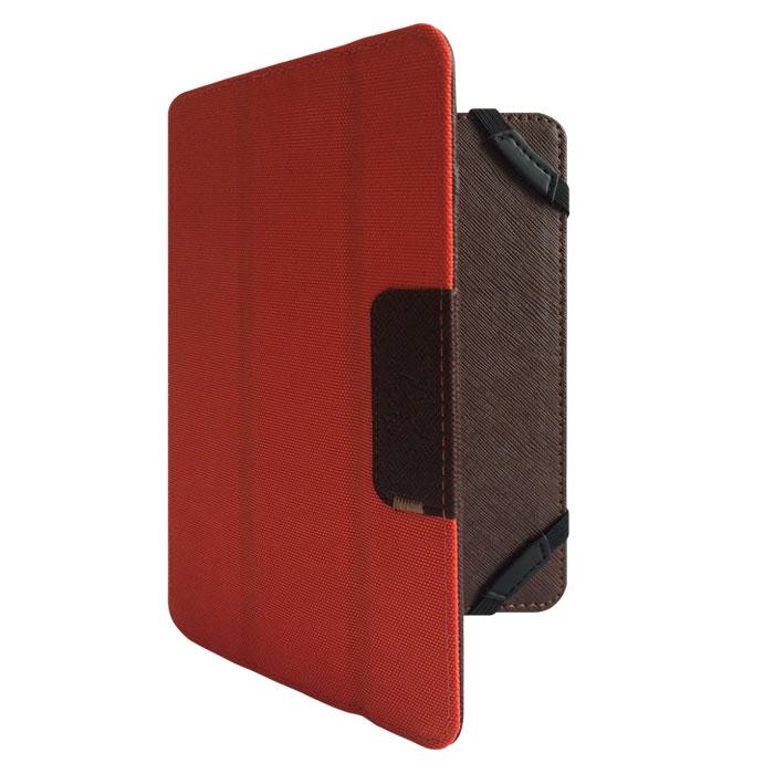 Snoogy DoubleSide SN-DS-U7.85 чехол для планшета 7.85, Brown OrangeSN-DS-U7.85-brn/ornУниверсальный двусторонний чехол Snoogy DoubleSide SN-DS-U7.85 для планшетов с диагональю экрана 7.85.Чехол придуман и изготовлен полностью в России из качественной ПУ-кожи и ткани оксфорд. Держатель устройства - перекидные резинки, которые крепко фиксируют планшет. Ко всем элементам планшета имеется свободный доступ. Передняя крышка служит подставкой для альбомной ориентации планшета.Упаковка для чехла представляет собой самостоятельный продукт - она выполнена в качестве косметички и может использоваться для хранения и перевозки полезных мелочей.