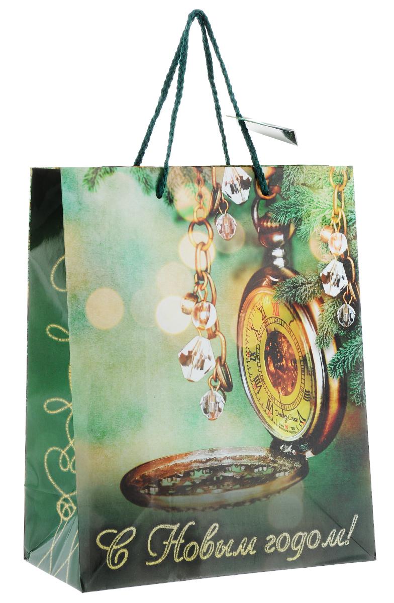 Пакет подарочный Феникс-Презент Карманные часы, 26 см х 13 см х 33 см феникс презент подарочный пакет лимоны 26 32 4 12 7 см