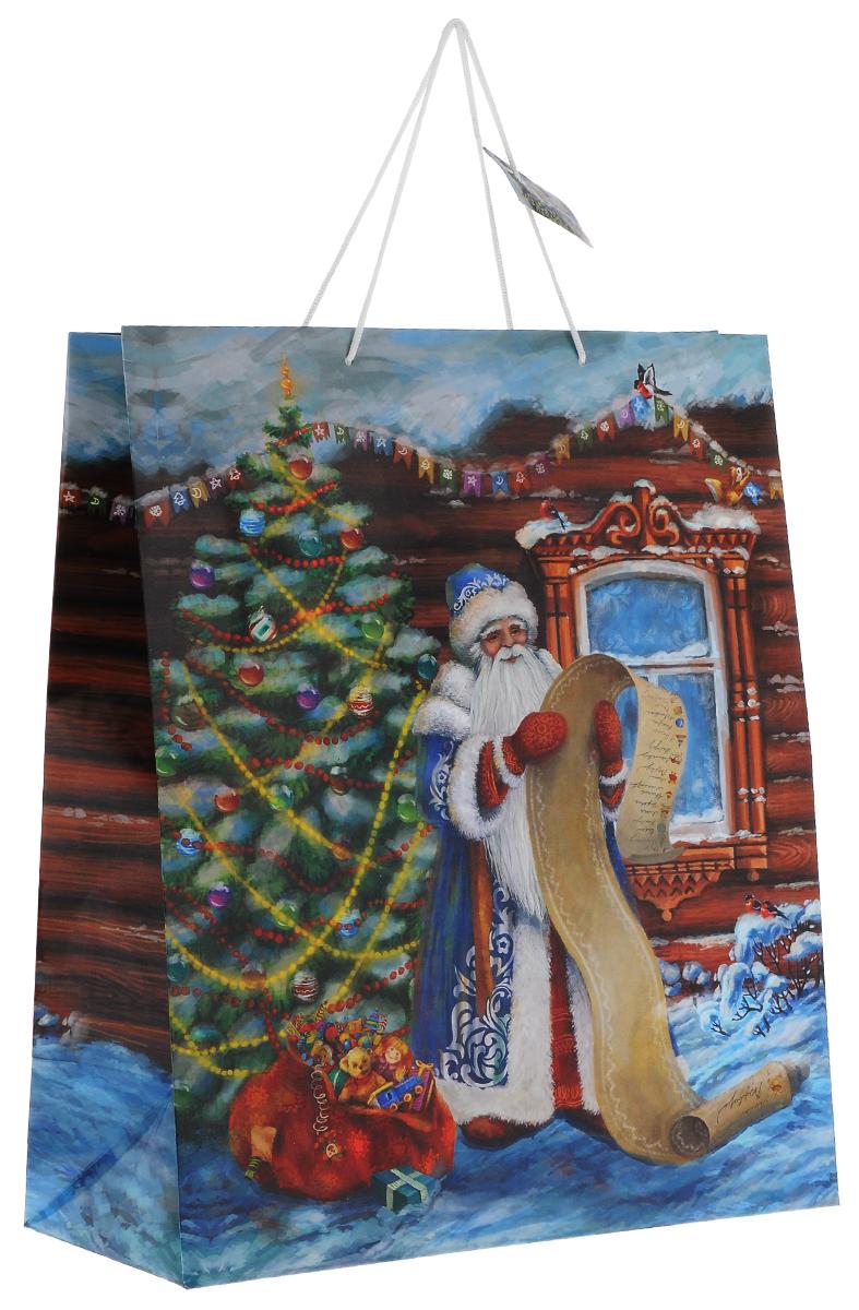 Пакет подарочный Феникс-презент Дед Мороз со списком, 40,6 х 48,9 х 19 см38568Подарочный пакет Феникс-презент Дед Мороз со списком, изготовленный из плотной бумаги, станет незаменимым дополнением к выбранному подарку. Дно изделия укреплено картоном, который позволяет сохранить форму пакета и исключает возможность деформации дна под тяжестью подарка. Для удобной переноски на пакете имеются две ручки из шнурков.Подарок, преподнесенный в оригинальной упаковке, всегда будет самым эффектным и запоминающимся. Окружите близких людей вниманием и заботой, вручив презент в нарядном, праздничном оформлении.Плотность бумаги: 157 г/м2.