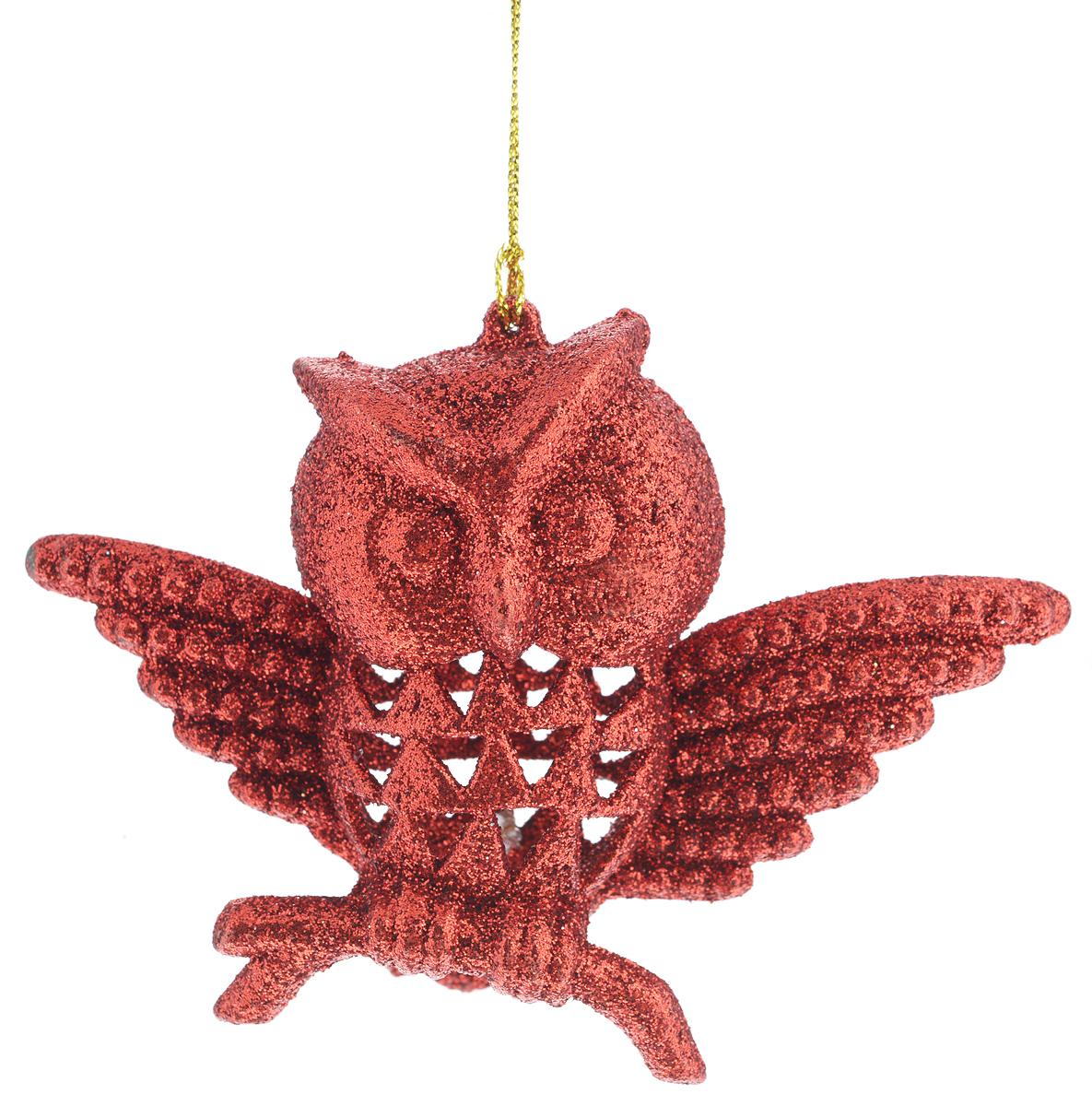 Новогоднее подвесное украшение Феникс-Презент Сова, цвет: красный34977Новогоднее украшение Феникс-Презент Сова, изготовленное из высококачественногопластика, прекрасно подойдет для праздничного декора дома иновогодней ели. С помощьюспециальной текстильной петельки его можно повесить в любомпонравившемся вам месте.Елочная игрушка - символ Нового года. Она несет в себе волшебство и красоту праздника.Создайте в своем доме атмосферу веселья и радости, украшая новогоднюю елку наряднымиигрушками, которые будут из года в год накапливать теплоту воспоминаний.