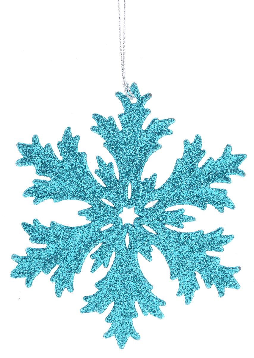 Украшение новогоднее подвесное Феникс-Презент Снежинка, 12 х 12 х 0,3 см38718/75090Оригинальное новогоднее украшение Феникс-Презент Снежинка выполнено из прочного пластика и оформлено блестками. С помощью специальной текстильной петельки украшение можно подвесить в любом понравившемся вам месте. Но, конечно же, удачнее всего такая игрушка будет смотреться на праздничной елке.