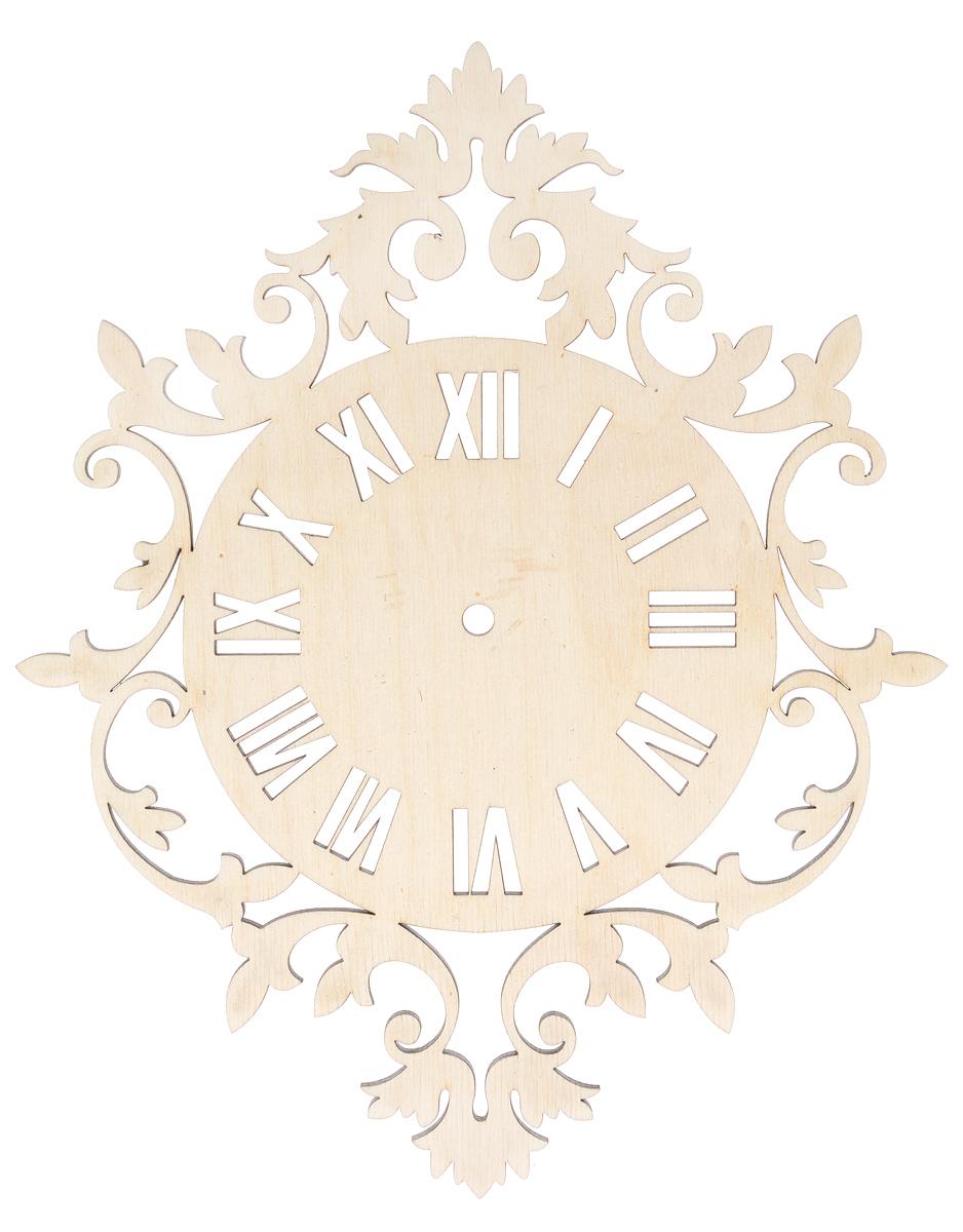 Zakazat.ru: Деревянная заготовка Астра Римский циферблат, 30 см х 24 см х 0,5 см