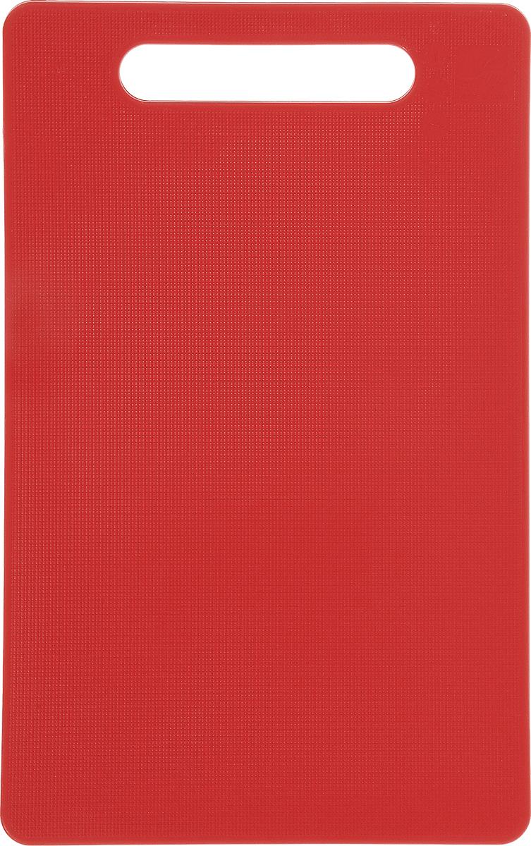Доска разделочная Kesper, цвет: красный, 24 см х 15 см3046-3Яркая разделочная доска Kesper прекрасно подходит для нарезкивсех видов продуктов. Изготовлена из одноцветного прочного пластика. Доска с ручкой.Можно мыть в посудомоечной машине.