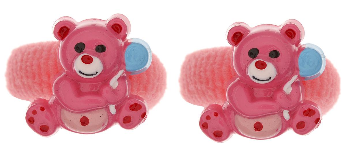 Резинка для волос Babys Joy, цвет: коралловый, 2 шт. VT 75VT 75_коралловыйРезинка для волос Babys Joy изготовлена из текстиля и дополнена милым мишкой из пластика.Комплект содержит две резинки.Резинка для волос Babys Joy надежно зафиксирует волосы и подчеркнет красоту прически вашей маленькой принцессы.