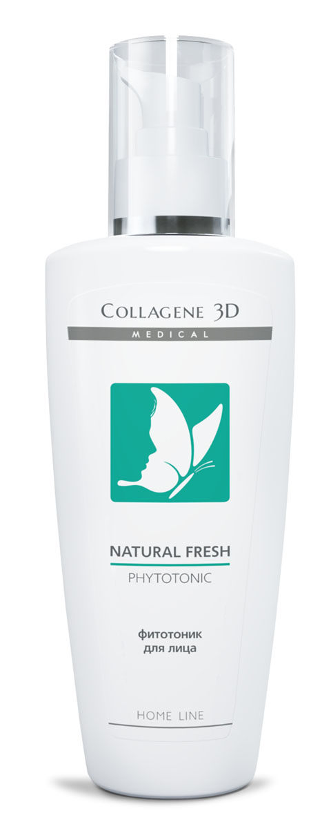Medical Collagene 3D Фитотоник для лица Natural fresh, 250 мл medical collagene 3d энзимный пилинг c коллагеназой medical collagene 3d natural peel enzyme peeling 26005 150 мл