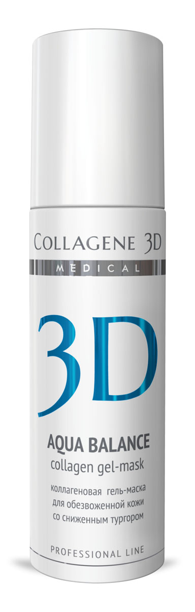 Medical Collagene 3D Гель для лица профессиональный Aqua Balance, 130 мл гель medical collagene 3d easy peel glicolic peeling 5