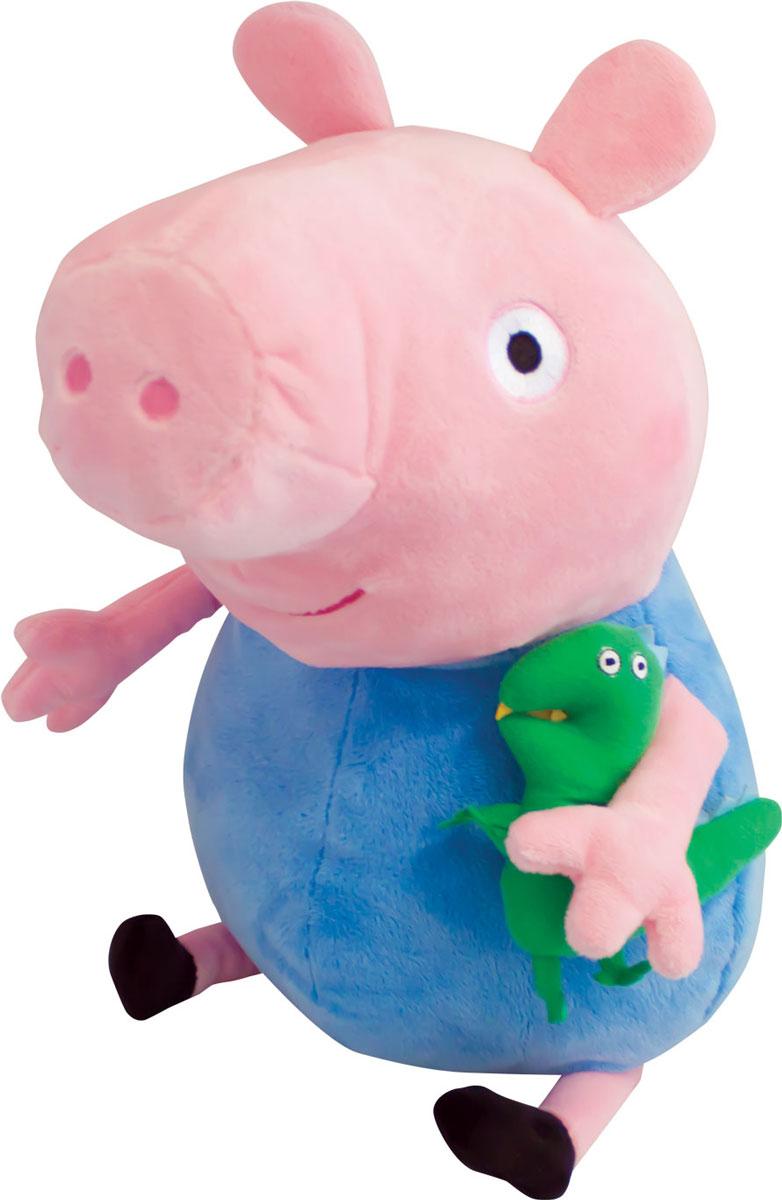 Peppa Pig Мягкая игрушка Джордж с динозавром 40 см мягкая игрушка peppa pig джордж с машинкой свинка розовый текстиль 18 см 29620
