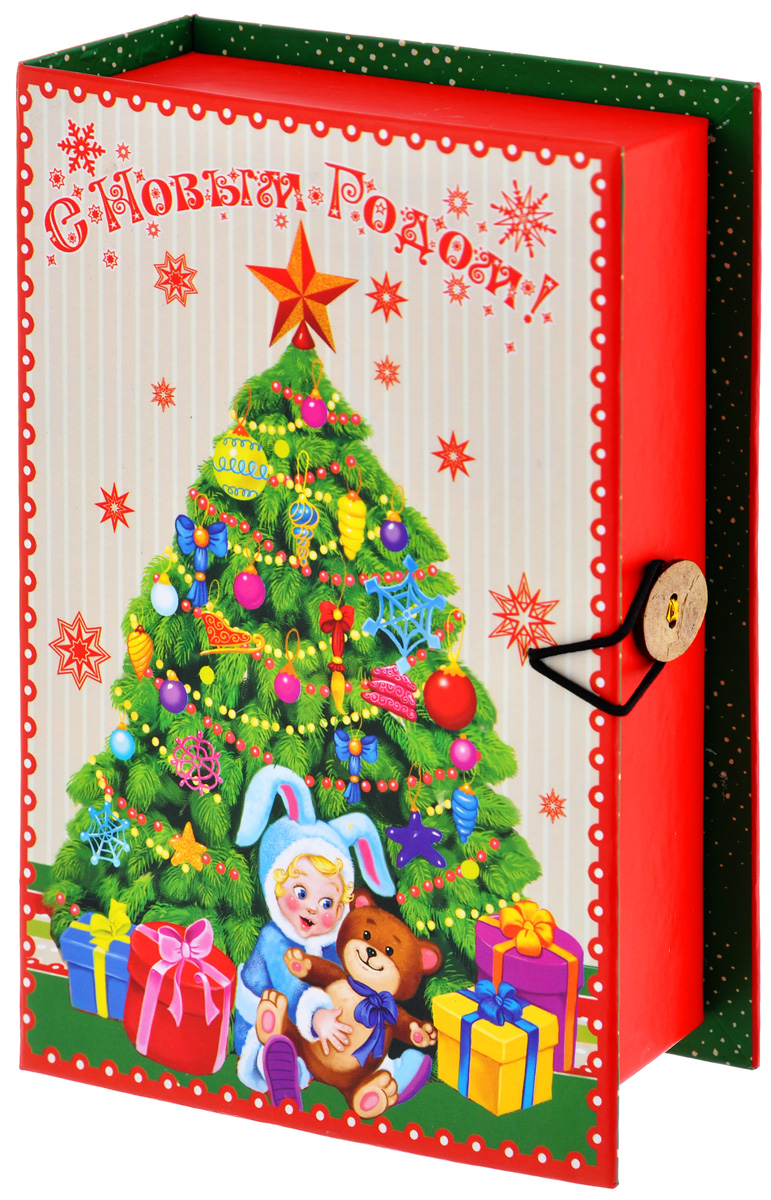 Подарочная коробка Феникс-Презент Елочка, 20 х 14 х 6 см39260Подарочная коробка Феникс-Презент Елочка выполнена из плотного картона. Крышка оформлена ярким изображением новогодней ели и подарков. Коробка закрывается на пуговицу. Подарочная коробка - это наилучшее решение, если вы хотите порадовать ваших близких и создать праздничное настроение, ведь подарок, преподнесенный в оригинальной упаковке, всегда будет самым эффектным и запоминающимся. Окружите близких людей вниманием и заботой, вручив презент в нарядном, праздничном оформлении.