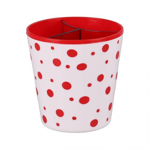 Подставка под столовые приборы Горошек; красно-белый. М2755М2755