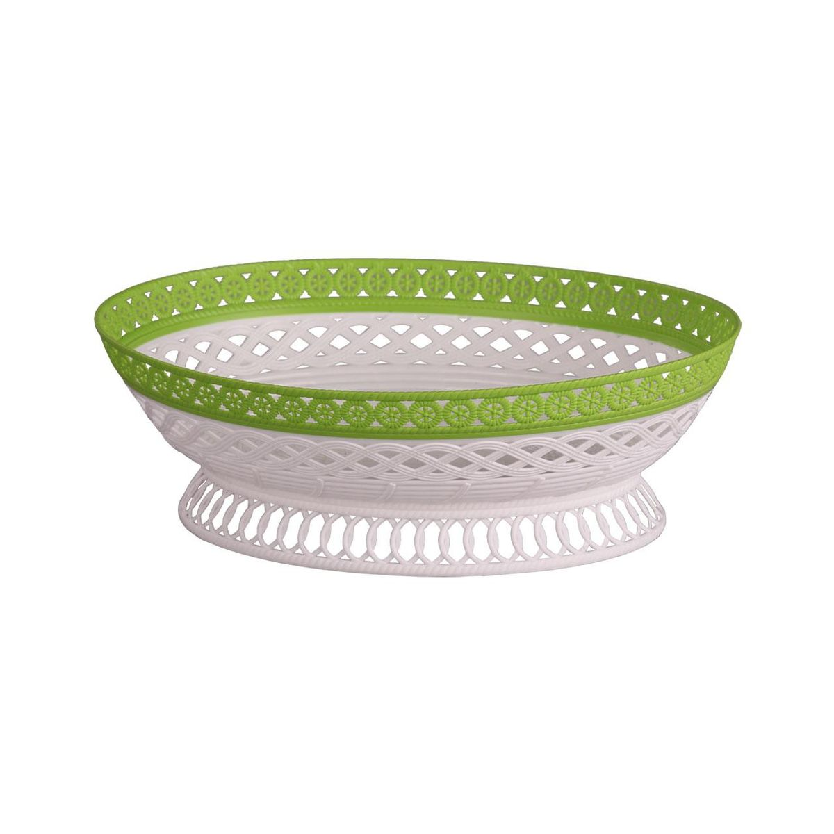 Сухарница Альтернатива Семь злаков люкс, цвет: белый, салатовый, 27 х 21,5 х 9 смМ4469Сухарница Альтернатива Семь злаков люкс выполнена из высококачественного пластика и декорирована перфорацией. Изделие предназначено для красивой сервировки сухариков, конфет и другого угощения. Оригинальный дизайн, несомненно придется по вкусу вашим гостям.