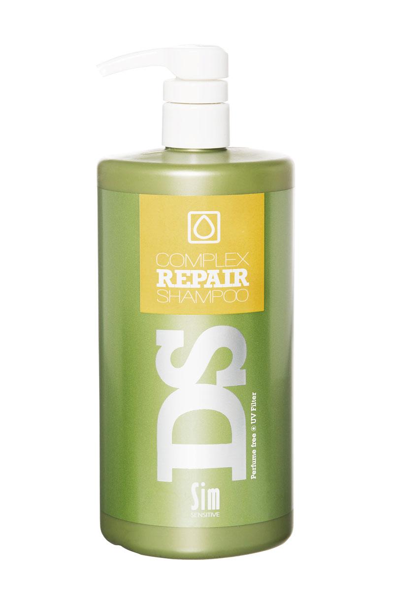 SIM SENSITIVE Шампунь для восстановления волос Repair 1000 мл5285Шампунь Рипеир входит в состав Рипеир комплекса DS by Sim Sensitive. Шампунь не только эффективно очищает кожу головы и волосы, но и оказывает питающее и защитное действие за счет таких ингредиентов как аргановое масло, протеины пшеницы и гидролизованный белок. Кроме того, шампунь снабжен УФ-фильтром, защищающим волосы от ультрафиолета. Шампунь не содержит сульфаты, парабены и ароматизаторы.Состав:вода,дисодиум лоурет сульфосукцинат, моющее средство на основе кокосового масла, глицерин, аргановое масло,производные гидролизованного белка пшеницы,гидролизованный растительный белок, УФ фильтр.