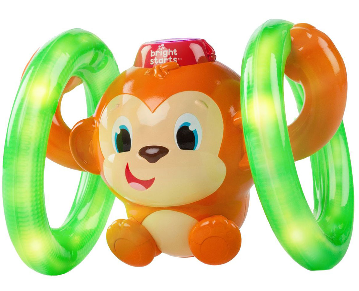 Bright Starts Развивающая игрушка Обезьянка на кольцах развивающая игрушка bright starts обезьянка на кольцах 52181