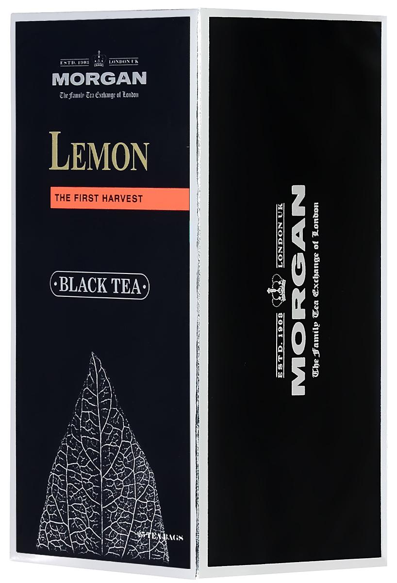 Morgan Lemon чай черный в пакетиках, 25 шт чай в пакетиках green tea with lemon 50 шт