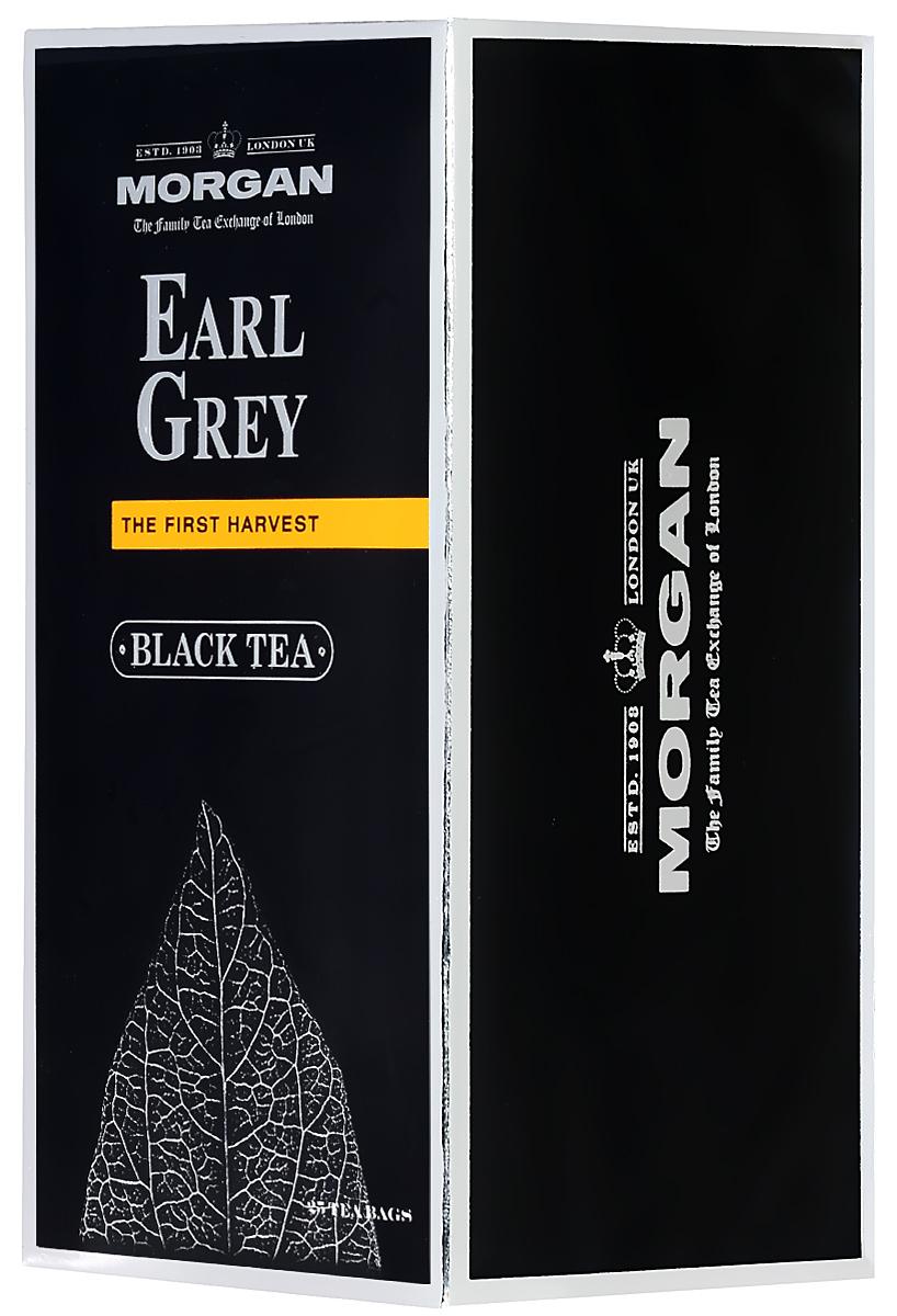 Morgan Earl Grey чай черный в пакетиках, 25 шт4607141334139Чай Morgan Earl Grey обладает классическим вкусом знаменитого сорта чая. Масло бергамота делает вкус напитка мягче и вносит в напиток бархатный аромат с нотками пряностей.