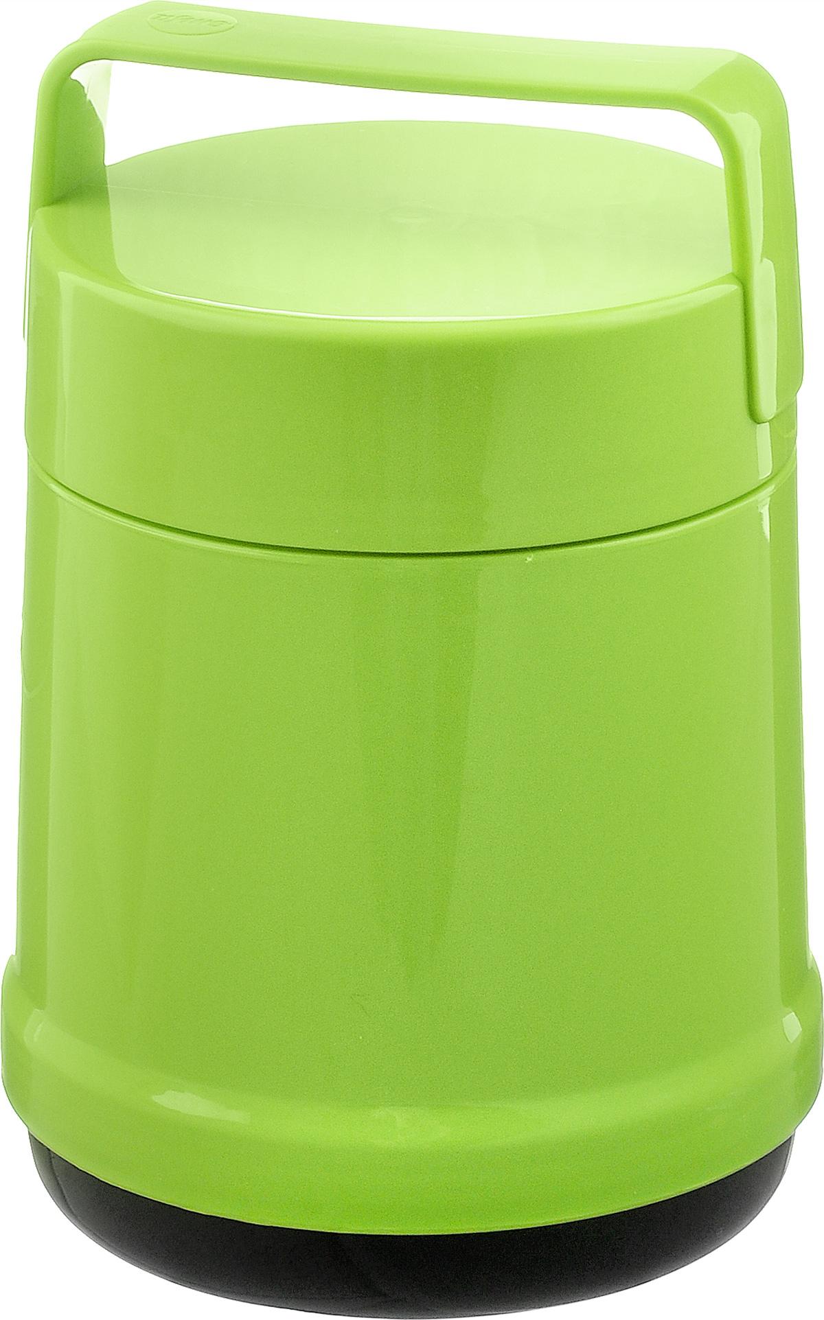 """Термос с широким горлом Emsa """"Rocket"""" выполнен из прочного цветного пластика со стеклянной колбой. Термос прост в использовании и очень функционален. В комплекте 2 контейнера, которые можно использовать в качестве мисок для еды. Легкий и прочный термос Emsa """"Rocket"""" сохранит вашу еду горячей или холодной надолго.Высота (с учетом крышки): 25 см.Диаметр горлышка: 12,5 см.Диаметр дна: 14 см.Размер большого контейнера: 11,8 см х 11,8 см х 16,5 см.Размер маленького контейнера: 11 см х 10 см х 4,7 см.Сохранение холода: 12 ч.Сохранение тепла: 6 ч."""
