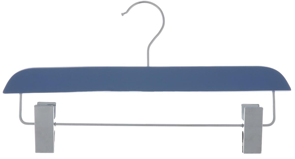 Вешалка для брюк и юбок Cosatto, с зажимами, цвет: голубой, 33 см39049Вешалка Cosatto, выполненная из дерева и нержавеющей стали, идеально подойдет для брюк и юбок. Она имеет надежный крючок и металлическую перекладину с двумя зажимами.Вешалка - это незаменимая вещь для того, чтобы ваша одежда всегда оставалась в хорошем состоянии. Размер вешалки: 33 см х 1,5 см х 16 см.