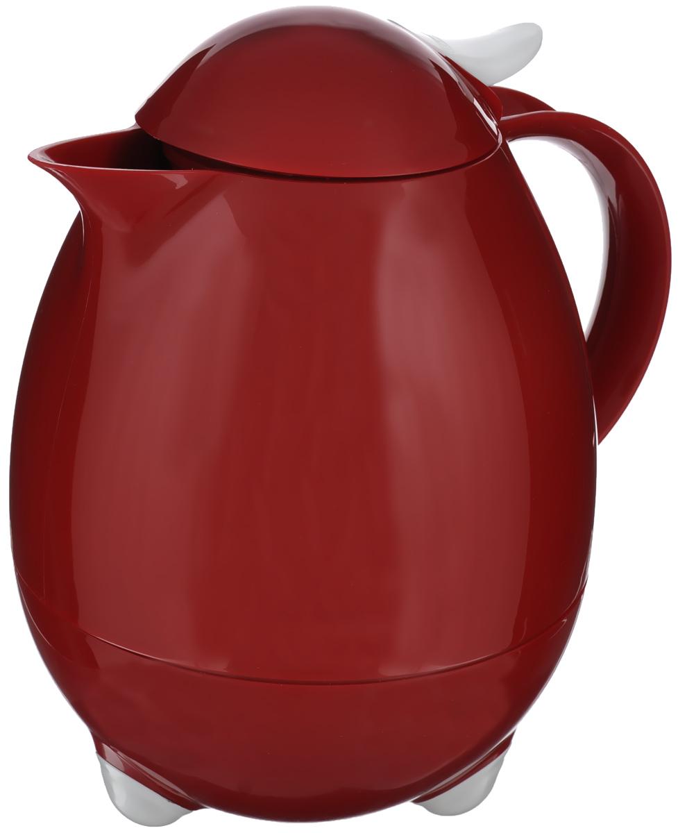 Термос Leifheit Columbus, цвет: темно-красный, 1 л leifheit термос чайник leifheit bolero 28343 1 л черный c uk z9g6