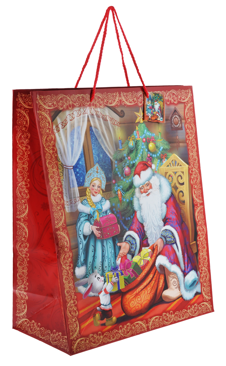 Пакет подарочный Феникс-Презент Дед Мороз и Снегурочка, 41 х 49 х 20 см35248Подарочный пакет Феникс-презент Дед Мороз и Снегурочка, изготовленный из плотной бумаги, станет незаменимым дополнением к выбранному подарку. Дно изделия укреплено картоном, который позволяет сохранить форму пакета и исключает возможность деформации дна под тяжестью подарка. Для удобной переноски на пакете имеются две ручки из шнурков.Подарок, преподнесенный в оригинальной упаковке, всегда будет самым эффектным и запоминающимся. Окружите близких людей вниманием и заботой, вручив презент в нарядном, праздничном оформлении.