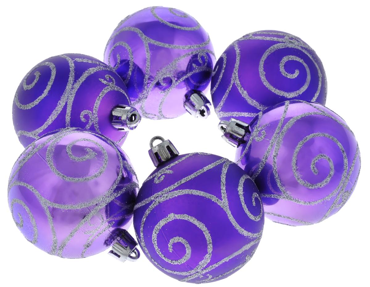 Набор новогодних подвесных украшений Феникс-презент Спираль, цвет: фиолетовый, серебристый, диаметр 6 см, 6 шт39009Набор подвесных украшений Феникс-презент Спираль прекрасно подойдет для праздничного декора новогодней ели. Набор состоит из 6 пластиковых украшений в виде глянцевых шаров, оформленных блестками. Для удобного размещения на елке для каждого украшения предусмотрена петелька, выполненная из текстиля.Елочная игрушка - символ Нового года. Она несет в себе волшебство и красоту праздника. Создайте в своем доме атмосферу веселья и радости, украшая новогоднюю елку нарядными игрушками, которые будут из года в год накапливать теплоту воспоминаний. Откройте для себя удивительный мир сказок и грез. Почувствуйте волшебные минуты ожидания праздника, создайте новогоднее настроение вашим дорогим и близким.