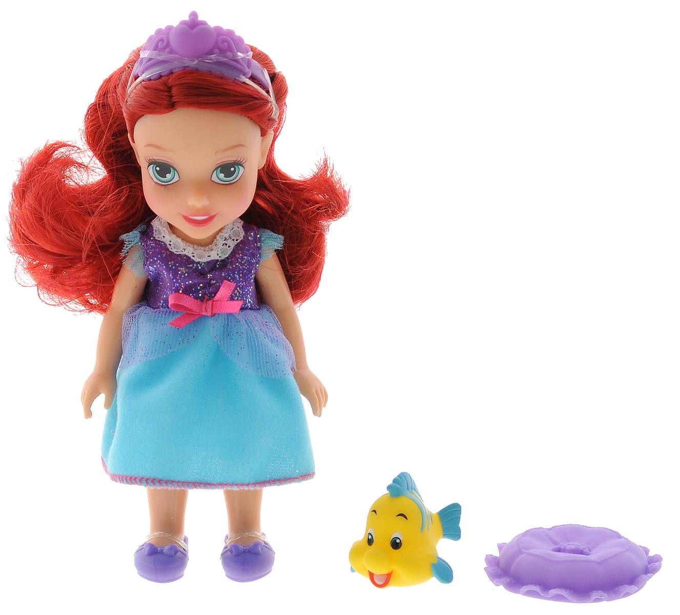 Disney Princess Мини-кукла Petite Ariel Flounder disney princess train case
