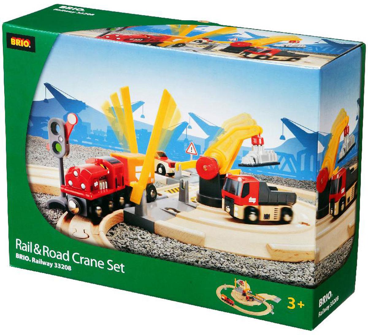 Brio Железная дорога с погрузочным краном power trains набор с краном 48627