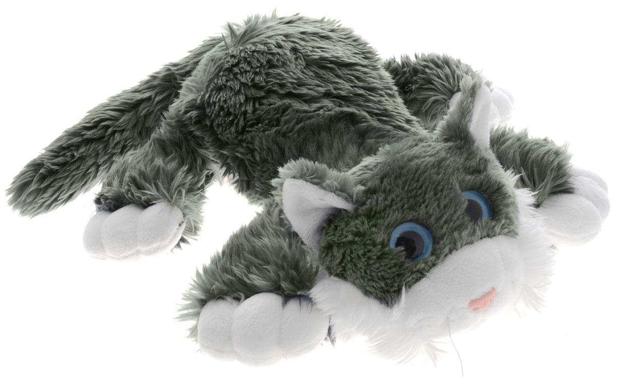 Gulliver Мягкая озвученная игрушка Котик Шалунишка цвет серый 40 см игрушка collecta котик шалунишка 18 3001 1