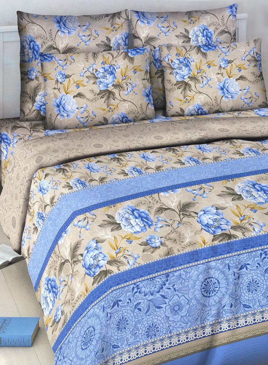 Комплект белья Василиса Кружевной стиль, 1,5-спальный, наволочки 70х70, цвет: голубой, серый5031_1/1,5Комплект постельного белья Василиса Кружевной стиль состоит из пододеяльника, простыни и двух наволочек. Дизайн - крупные цветы. Белье изготовлено из бязи (100% хлопка) - гипоаллергенного, экологичного, высококачественного волокна, благодаря чему эта ткань мягкая, нежная на ощупь и очень прочная, не образует катышков на поверхности. При соблюдении рекомендаций по уходу, это белье выдерживает много стирок, не линяет и не теряет свою первоначальную прочность. Уникальная ткань обеспечивает легкую глажку.